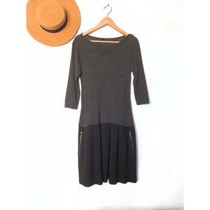 Theory Pleated Drop Waist Dress